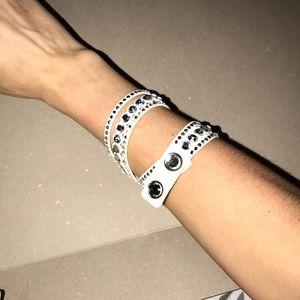 Swarovski Slate Crystal Wrap Bracelet
